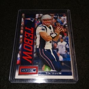 2013 panini Tim Tebow football card patriots